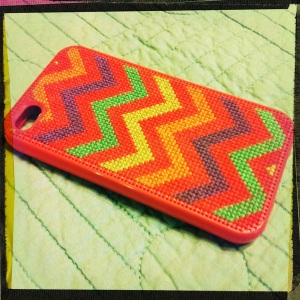diy cross stitch iphone case