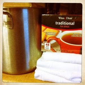 tea staining supplies