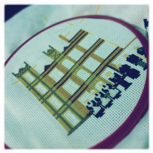 downton abbey cross stitch
